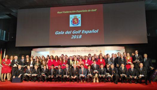 La Gala del Golf Español 2018, aluvión de triunfos en homenaje a Celia Barquín