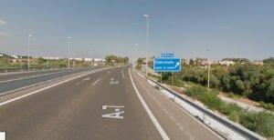 Salida a Cancelada, A-7 (dirección Málaga).